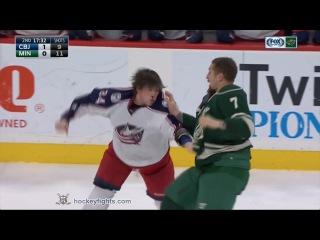 Josh Anderson vs Chris Stewart & Matt Calvert vs Matt Dumba Dec 31, 2016