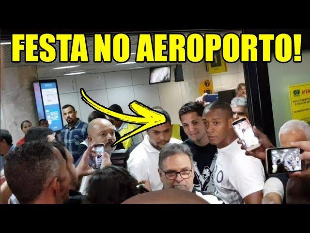 AEROVASCO VEJA O AEROPORTO LOTADO COM A CHEGADA DO ANDERSON MARTINS
