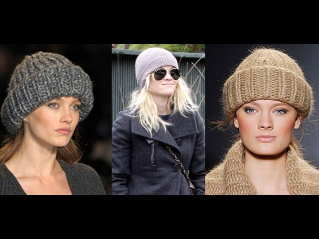 ВЯЗАНИЕ ШАПКИ С ОТВОРОТОМ - модели 2019 Knitted hat with lapel Strickmütze mit Revers