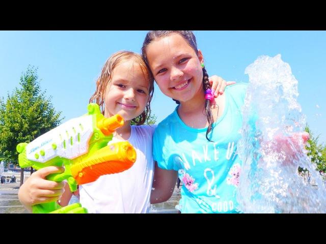 Москва для детей Где можно купаться В фонтанах Лучшие подружки Настя Алла и Симка