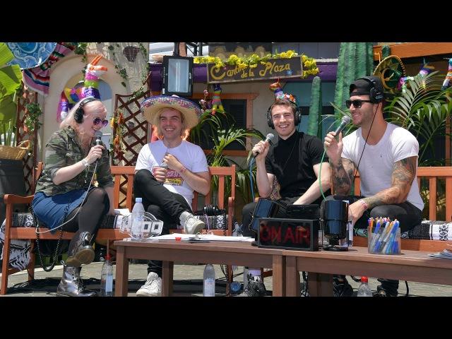 New Politics Interview - KROQ Weenie Roast Y Fiesta 2017