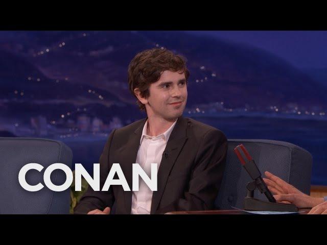 Freddie Highmore Teaches Conan Polite British Swears - CONAN on TBS