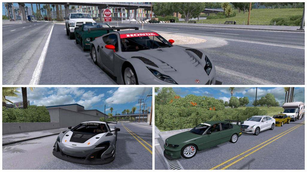 Трафик гоночные машины