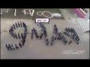 Пермские школьники выстроились в надпись «9 мая»