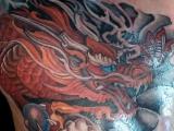 татуировка Дракон японский, красный дракон тату