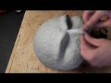 Как сделать маску из фильма Пила, из папье маше (1 часть)