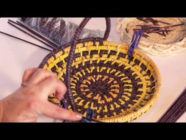 Завершение плетения изделий этнографическая обмотка