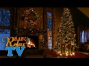 Christmas Fireplace Scene with Snow and Crackling Fire Sounds