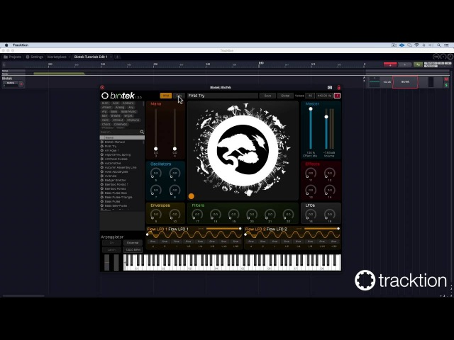 Tracktion BioTek Tutorial 2 user samples