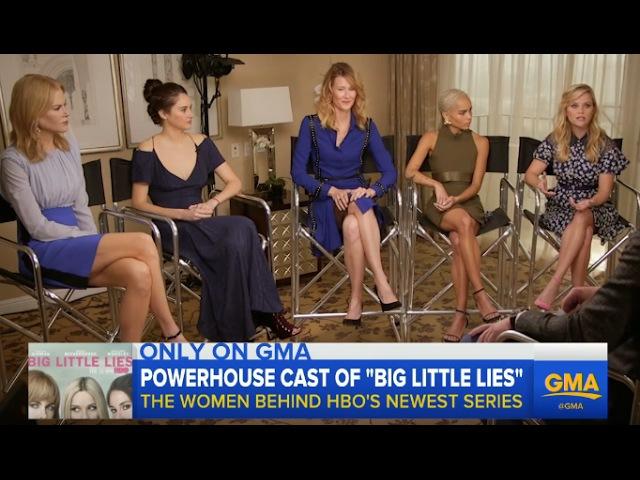 Big Little Lies Interview with Reese Witherspoon Nicole Kidman Shailene Woodley Zoe K Laura D