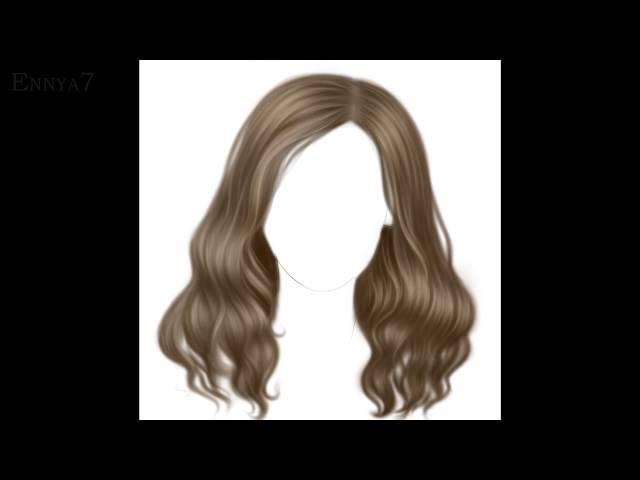 Рисование реалистичных волос в Paint Tool Sai
