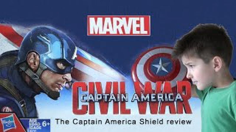 Blaster Reveal Shield Captain America Civil War review Marvel Hasbro Щит Капитан Америка SanSanychTV