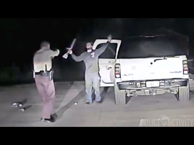 Police Dashcam Shows Take Down Of Suicidal Man Armed With Rifle