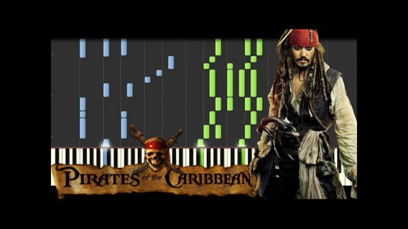 Pirates of the Caribbean Medley [Piano Tutorial] (Synthesia) Kyle Landry SHEETSMIDI