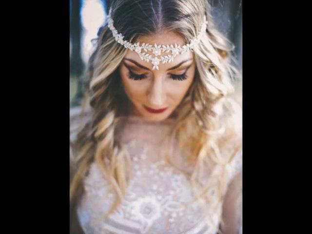 Свадебные модные прически для невест 2017 г.