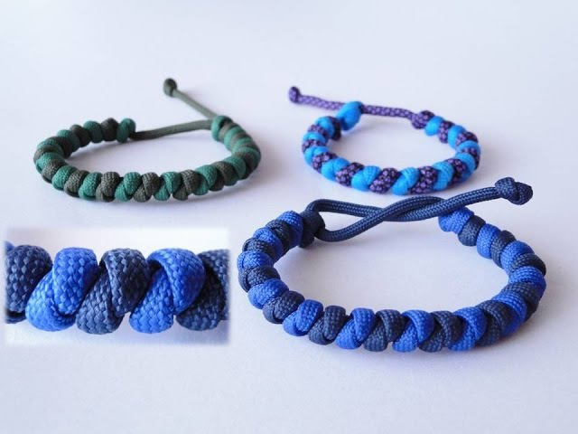 How to Make a Mad Max Style Basic Overhand Knot Paracord Bracelet-Two Color Version