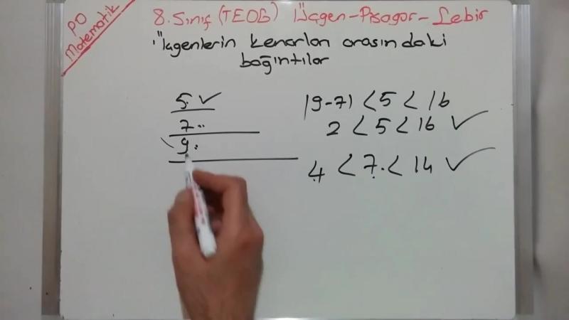 8. Sınıf Üçgenler Üçgen Çizebilme Kenar Bağıntıları Açı Kenar Bağıntıları (TEOG 2. Sınav)
