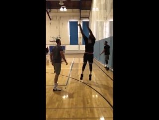 Anthony Davis and DeMarcus Cousins working out together on July 4th