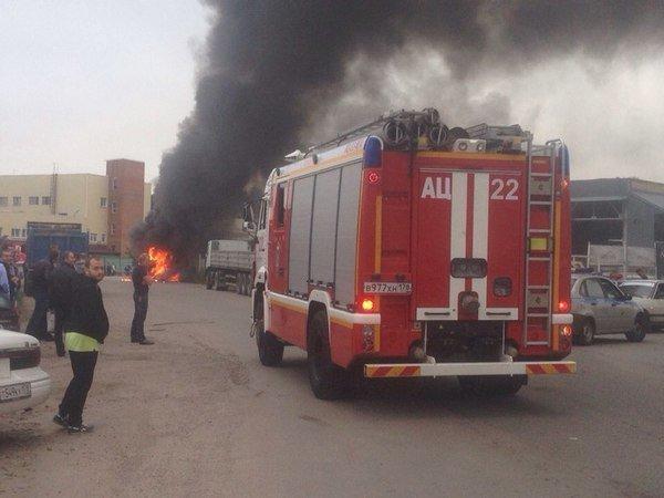 В Санкт-Петербурге взорвался автобус, пострадавших нет