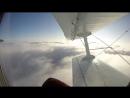 Прыжки с парашютом Взлёт на самолёте Ан-2 Вид из иллюминатора на облака Кромка облаков только пройдена