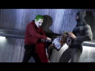 бэтмен джокер харли квинн порно