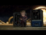 Baby Groot Dancing To Opening Credits - Guardians Of The Galaxy Vol 2 - Mr Blue Sky