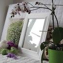 Интерьерная рамка из багета и потолочного плинтуса