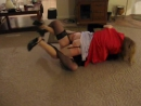 catfight - Classic Leg Locked entwined Catfights in nylons, heels, skirts
