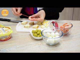 Топ - 5 Новогодних Канапе! Семейная кухня
