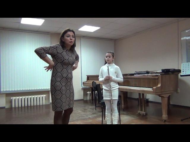 Master-class of Ella Dolzhikova flute Мастер-класс Эллы Должиковой флейта