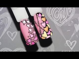 ❤Sweet Bloom на ногтях❤Сердечки❤Дизайн ногтей к 14 февраля❤Дизайн ногтей гель лако ...