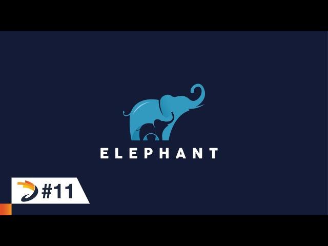 Illustrator Tutorial | Create an elephant logo with negative space