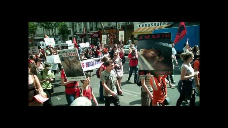 Акция за закрытие скотобоен - Paris 13 juin 2015