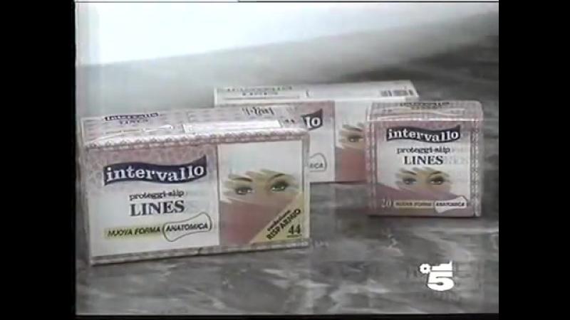 Рекламный блок и анонс (Canale 5 [Италия], 15.09.1995) Cornetto, Rex, Kinder, Colgate, Intervallo, Barilla, Elseve, Tronky