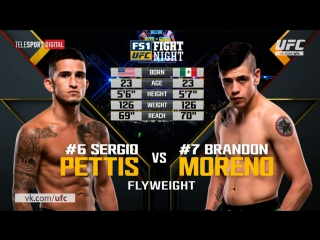 UFC Fight Night 114: SERGIO PETTIS VS BRENDON MORENO Highlights