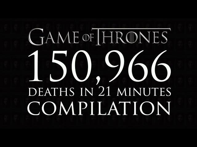 Все 150 тысяч жестоких смертей сериала «Игра престолов» собрали в одном ролике