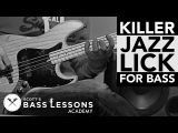 Killer Jazz Lick for Bass /// Scott's Bass Lessons
