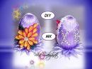 Пасхальное яйцо канзаши/МК/DIY/Easter egg