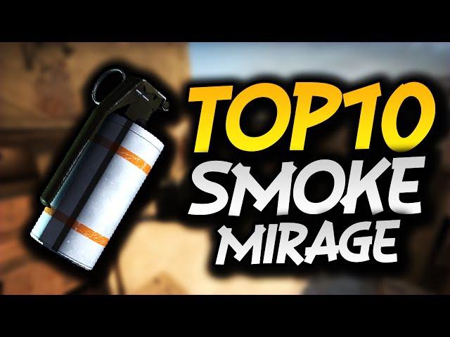 10 SMOKE na MIRAGE które musisz znać w CS:GO!