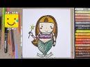 Как нарисовать Русалочку - урок рисования для детей от 4 лет, рисуем дома поэтапно, пастель