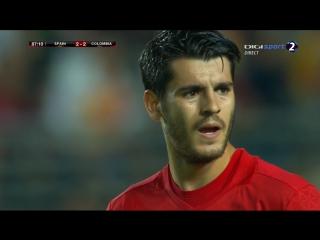 Испания - Колумбия 2:2. Обзор товарищеского матча.
