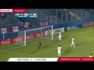 Гол по нереальной траектории из чемпионата Уругвая