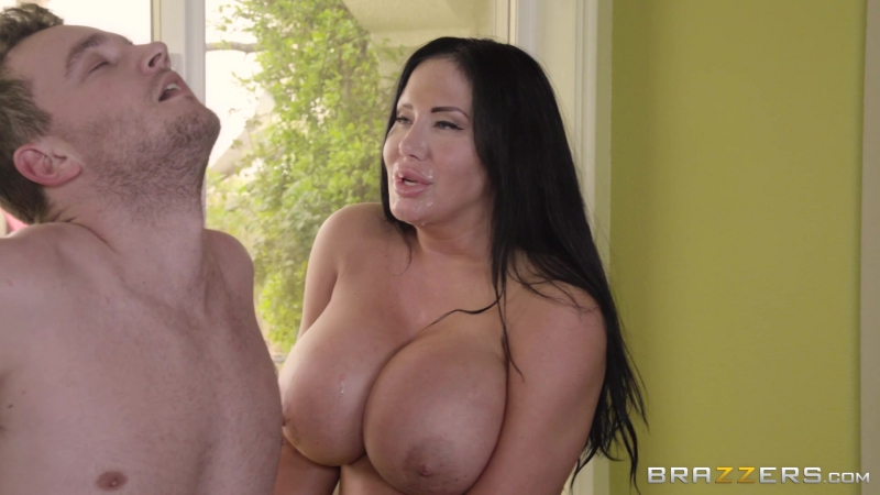 Sybil Stallone ( Stepmoms Spring Cleaning) 2017, Blowjob, Facial, Huge Tits, Latina, Stepmom,