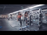 Dolly Castro and Ashley Kaltwasser Gym Workout