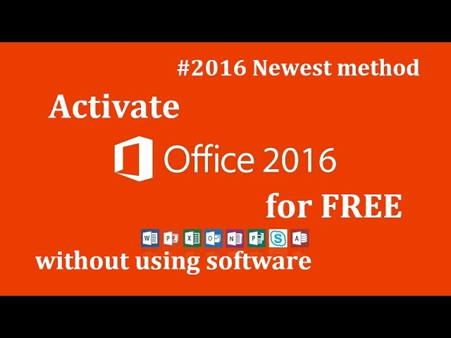Legally Activate Microsoft Office 2016 for FREE without using software Newest method ✔