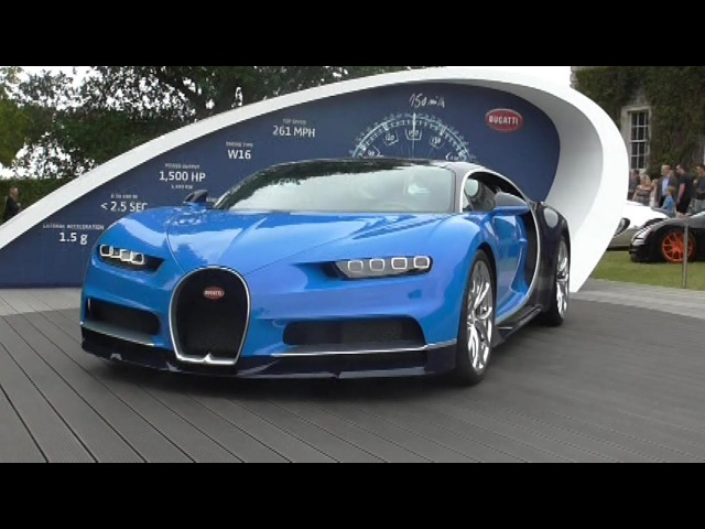 Close up look at the Bugatti Chiron drive by | Goodwood: FOS 2017