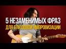 5 Незаменимых Фраз для Блюзовых Соло даблстопы - Уроки игры на гитаре Первый Лад