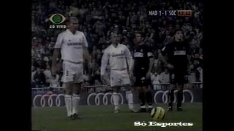 A estreia de 6 minutos de Vanderlei Luxemburgo no Real Madrid - Espanhol 2004-2005