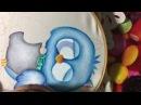 Pintura En Tela lechuzo Con Cony