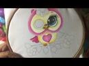 Pintura En Tela Lechuza Con Cony